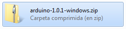 Imágen de archivo descargado Arduino IDE comprimido