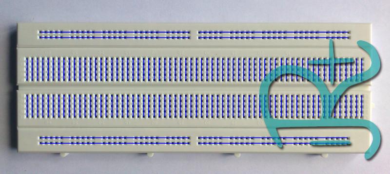 Esquema de conexiones de una protoboard