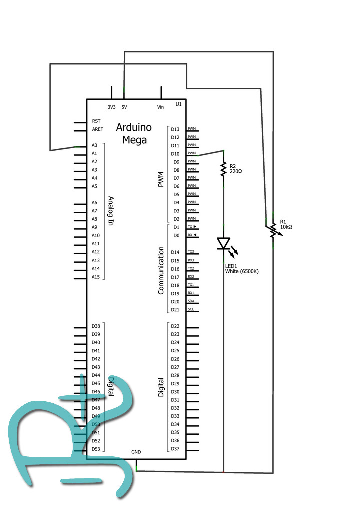 Diagrama conexiones eléctricas tutorial PWM